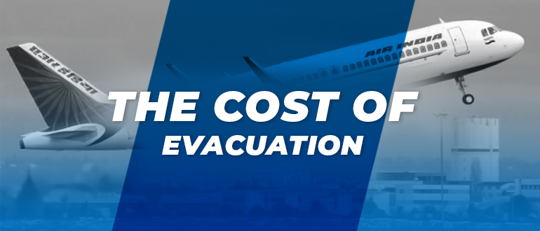 The cost of evacuation