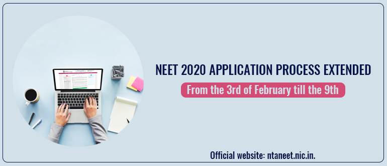 NEET 2020 application process extended