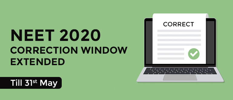 NEET 2020 correction window extended
