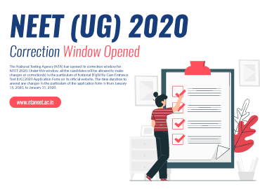 NEET 2020 Correction Window Open Now