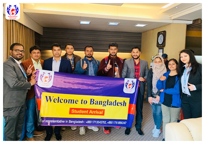 Students' arrival at Bangladesh medical university